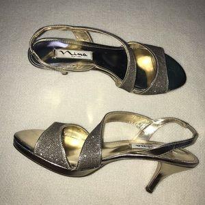 Glitter Gold Formal Heels